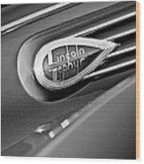 1938 Lincoln Zephyr Convertible Sedan Emblem Wood Print