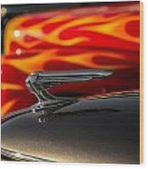1939 Graham Coupe Hood Ornament Wood Print by Ron Pate