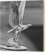 1940 Packard Custom Super-eight 180 Convertible Victoria Hood Ornament Wood Print