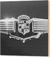 1941 Cadillac Emblem Wood Print by Jill Reger