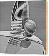 1942 Lincoln Continental Cabriolet Hood Ornament Wood Print