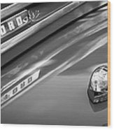 1949 Ford F-1 Pickup Truck Emblem -0027bw Wood Print