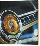 1949 Plymouth P-18 Special Deluxe Convertible Steering Wheel Emblem Wood Print