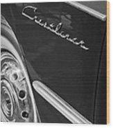 1951 Ford Crestliner Emblem - Wheel Wood Print by Jill Reger