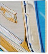 1953 Chevrolet Belair Convertible Emblem Wood Print