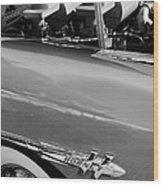 1953 Hudson Hornet Sedan Engine Wood Print