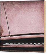 1953 Studebaker Coupe Grille Emblem Wood Print