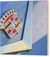 1954 Cadillac Coupe Deville Emblem Wood Print