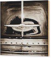1954 Chevrolet Deluxe Grille Emblem Wood Print