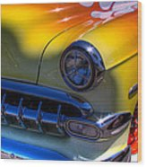 1954 Chevy Bel Air Custom Hot Rod Wood Print