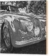 1954 Jaguar Xk 120 Se Ots  Bw Wood Print