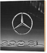 1955 Mercedes-benz Gullwing 300 Sl Emblem Wood Print