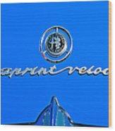 1956 Alfa Romeo Sprint Veloce Coupe Emblem Wood Print