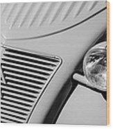 1956 Citroen 2cv Grille -0081bw Wood Print