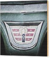 1956 Dodge Emblem Wood Print
