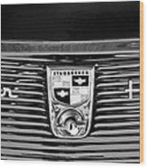 1956 Studebaker Golden Hawk Emblem Wood Print