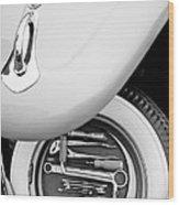 1956 Volkswagen Vw Bug Tool Kit Wood Print