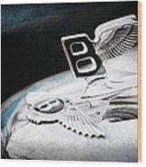 1957 Bentley S-type Hood Ornament - Emblem Wood Print