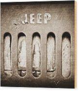 1957 Jeep Emblem Wood Print