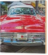1957 Lincoln Premiere Coupe Painted  Wood Print
