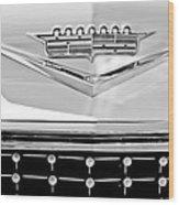 1958 Cadillac Eldorado Biarritz Convertible Emblem Wood Print by Jill Reger