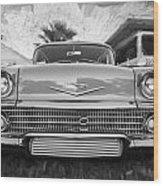 1958 Chevrolet Bel Air Impala Painted Bw  Wood Print