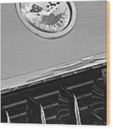 1958 Chevrolet Corvette Hood Emblem Wood Print