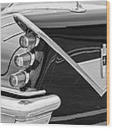 1959 Desoto Adventurer Convertible Tail Light Emblem Wood Print