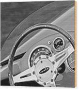 1959 Devin Ss Steering Wheel Wood Print