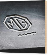 1959 Mg A 1600 Roadster Emblem Wood Print