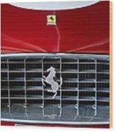 1960 Ferrari 250 Gt Swb Berlinetta Competizione Grille Emblem Wood Print