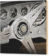 1960 Maserati Steering Wheel Emblem Wood Print