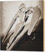1960 Nash Metropolitan Hood Ornament Wood Print