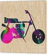 1960s Mini Bike Wood Print
