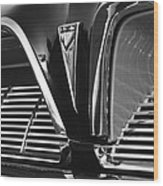 1961 Pontiac Catalina Grille Emblem Wood Print