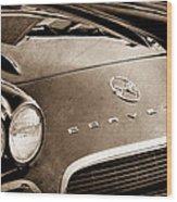 1962 Chevrolet Corvette Hood Emblems Wood Print