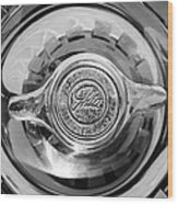 1962 Ghia L6.4 Coupe Wheel Emblem -2169bw Wood Print
