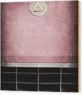 1963 Apollo Gran Tourismo Hood Emblem Wood Print