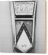 1963 Ford Falcon Futura Convertible  Emblem Wood Print