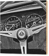1965 Lotus Elan S2 Steering Wheel Emblem Wood Print by Jill Reger