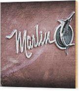 1965 Rambler Marlin Emblem Wood Print