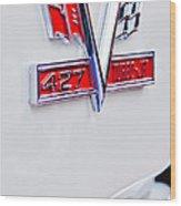 1966 Chevrolet Biscayne Emblem Wood Print