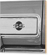 1966 Chevrolet II Ss L79 Taillight Emblem Wood Print