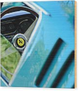 1966 Ferrari 275 Gtb Steering Wheel Emblem Wood Print