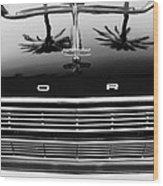 1966 Ford Galaxie 500 Convertible Grille Emblem - Hood Ornament Wood Print