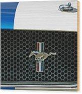 1966 Shelby Gt 350 Grille Emblem Wood Print