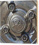 1967 Alfa Romeo Giulia Super Wheel Rim Wood Print