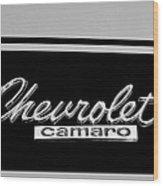 1967 Chevrolet Camaro Emblem Wood Print