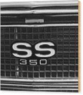 1967 Chevrolet Camaro Ss Grille Emblem Wood Print