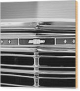1967 Chevrolet Chevelle Malibu Grille Emblem Wood Print